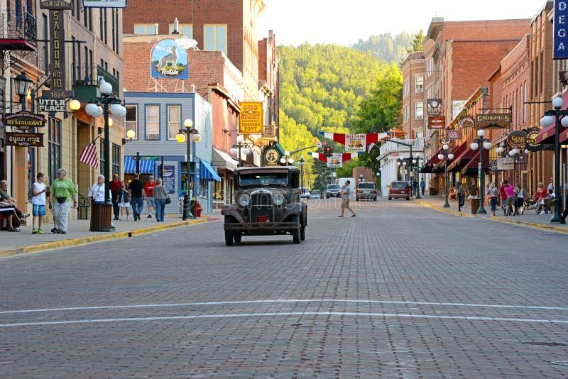 Main Street in Deadwood stock afbeelding