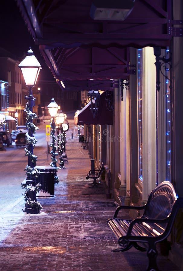 Main Street -Dekoration stockbilder