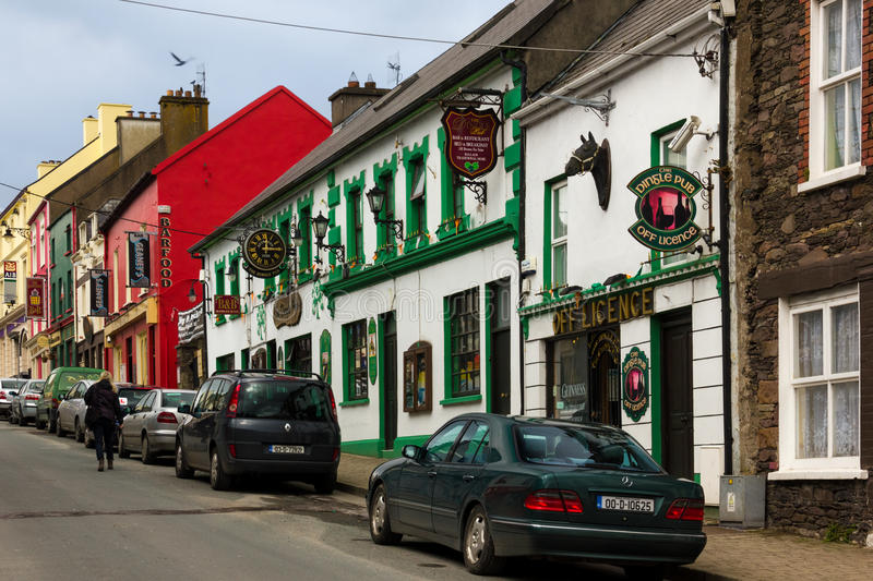 Main Street dingle ireland imagem de stock