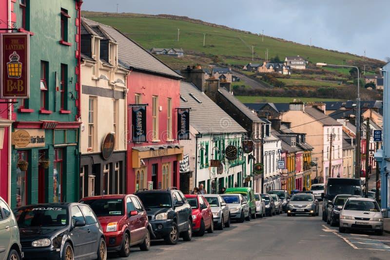 Main Street dingle ireland arkivfoto