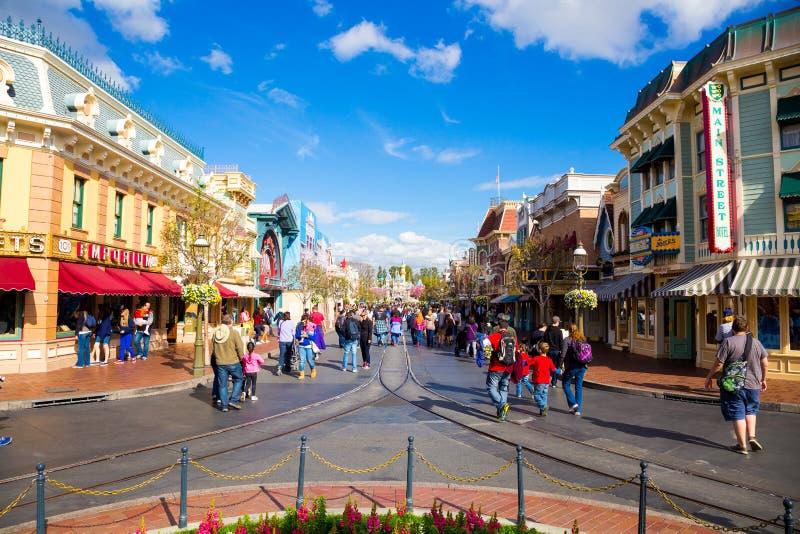 Main Street Disneyland imagen de archivo libre de regalías
