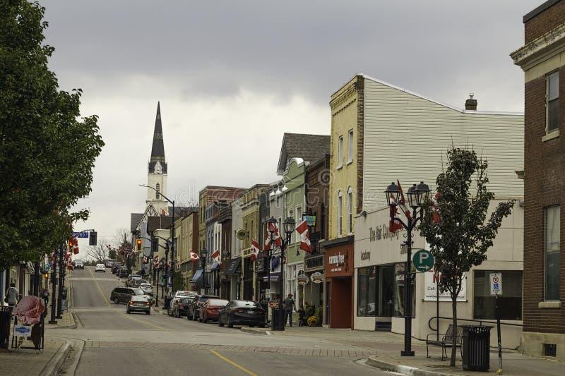 Main Street en Newmarket, Ontario fotografía de archivo libre de regalías