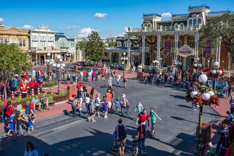 Main Street Etats-Unis au royaume magique, Walt Disney World image libre de droits