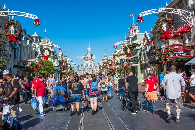 Main Street Etats-Unis au royaume magique, Walt Disney World images stock