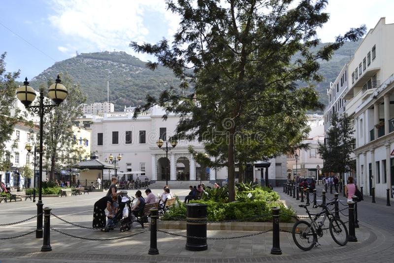 Main street in Gibraltar royalty free stock images