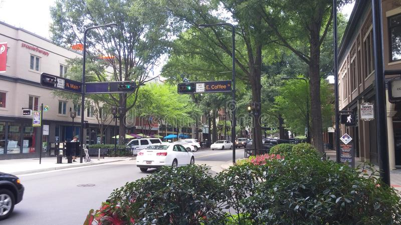 Main Street, Greenville SC royalty free stock images