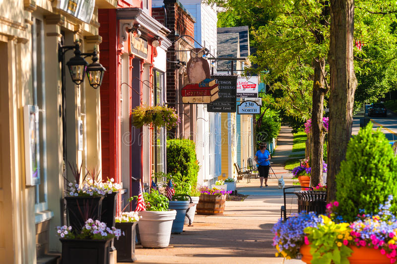Main Street -het noorden royalty-vrije stock afbeeldingen