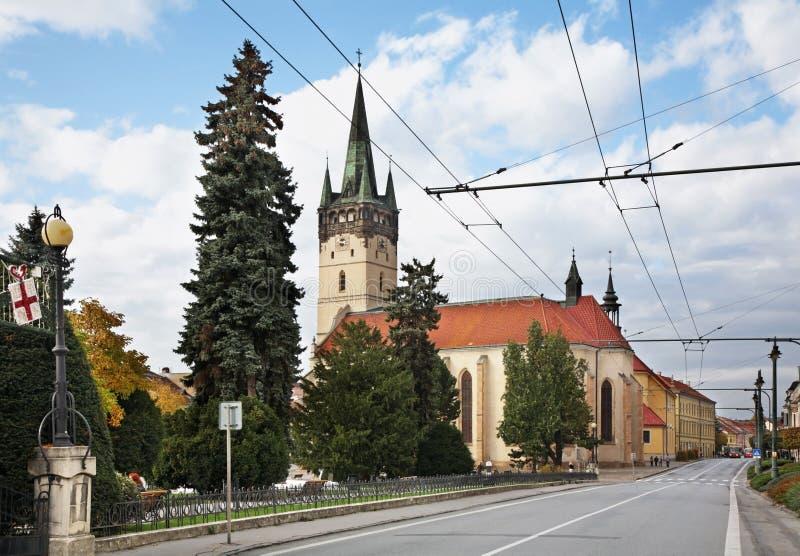 Main Street (Hlavna ulica) i Presov slovakia arkivbild