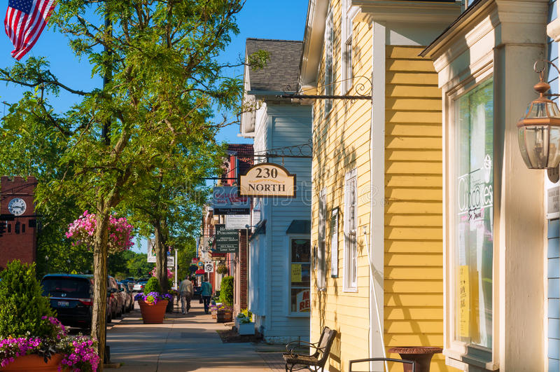 Main Street Hudson stock foto's
