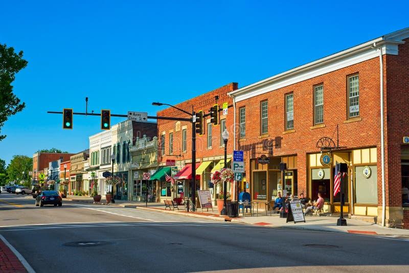 Main Street Hudson Ohio royalty-vrije stock fotografie