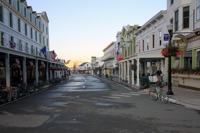 Main Street i den Mackinac ön arkivfoton