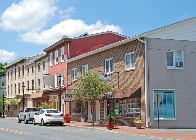 Main Street i Smyrna Delaware royaltyfri foto