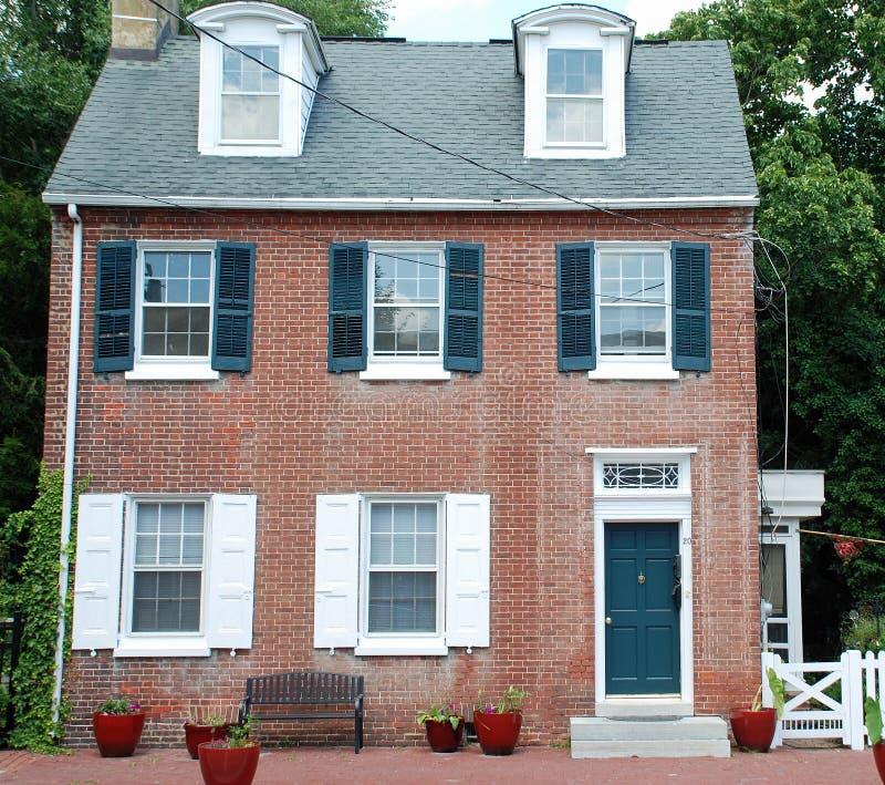 Main Street i Smyrna Delaware royaltyfria foton