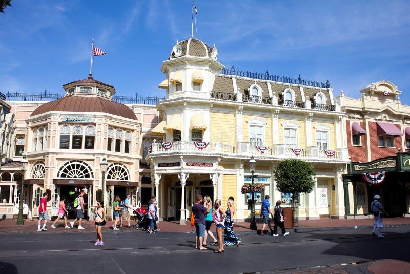 Main Street los E.E.U.U., reino mágico, Walt Disney World fotos de archivo libres de regalías