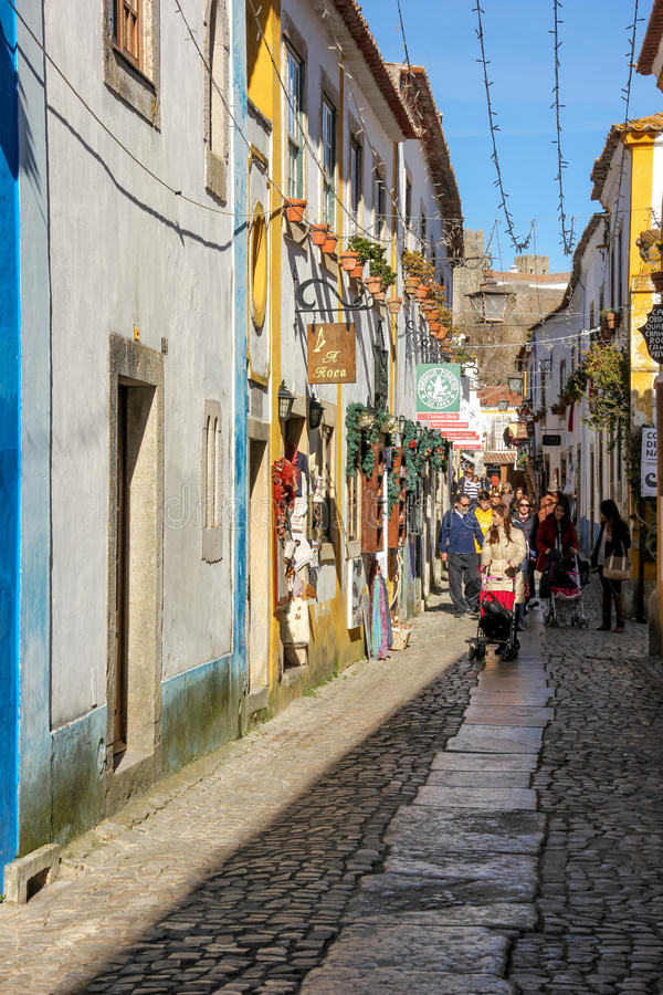 Download Main Street. Obidos. Portugal Editorial Photography - Image: 33080612