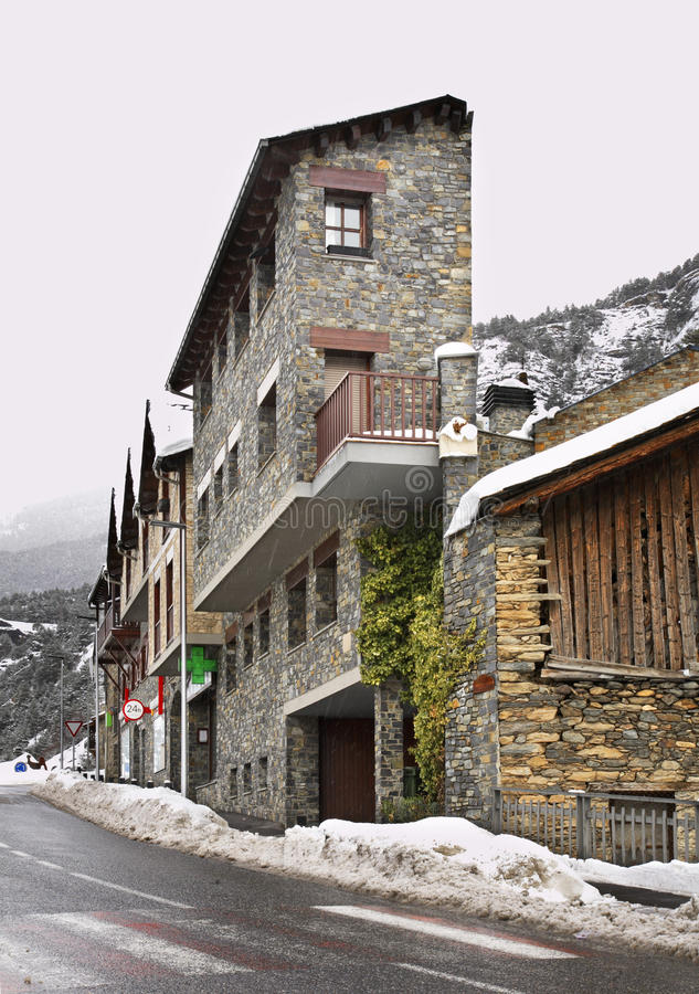 Main street in Ordino. Andorra.  royalty free stock image