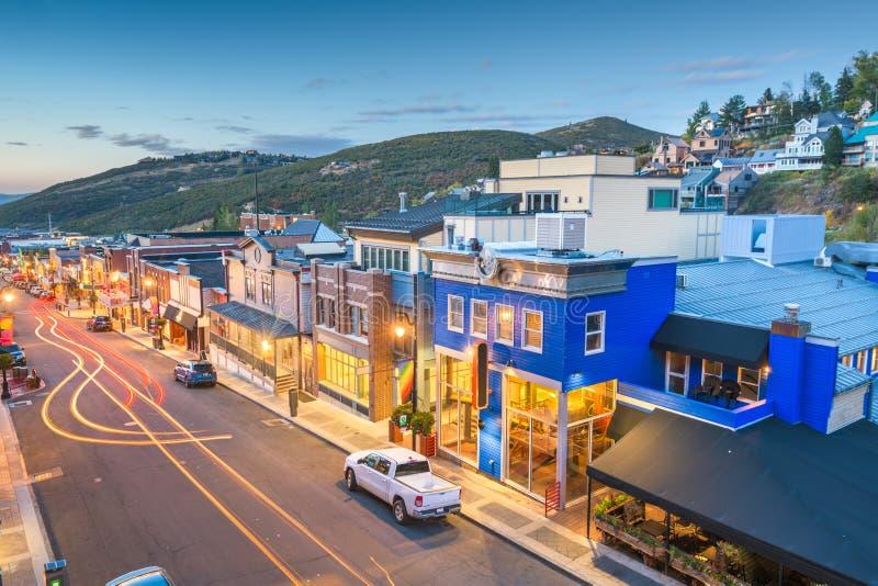 Main Street, Park City, Utah, USA royalty free stock photography