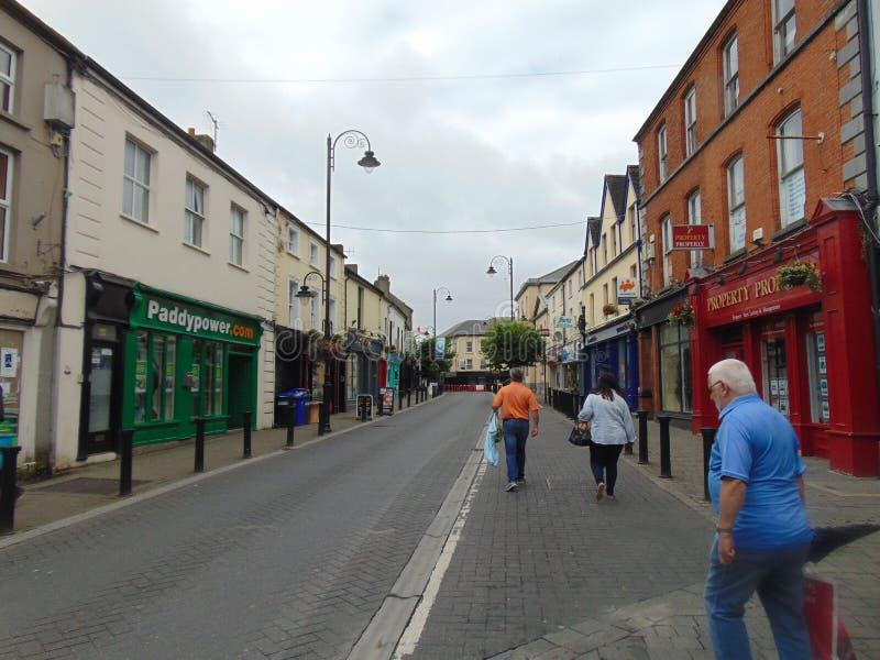 Main Street in Port Laoise fotografia stock