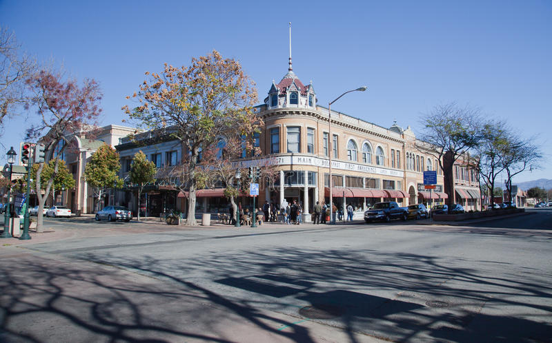 Main Street stock image