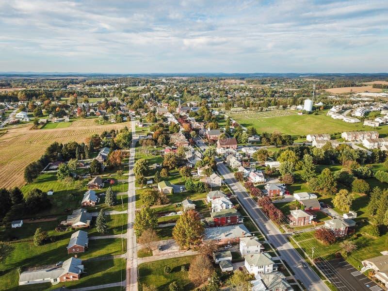 Main Street Shrewsbury, Pennsylvania i sydlig York County dur royaltyfri fotografi