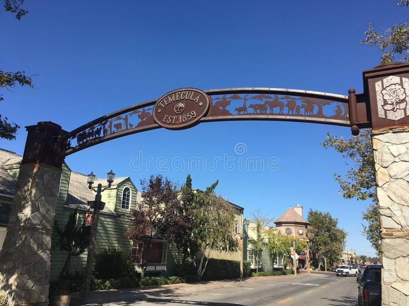 Main street Temecula California royalty free stock photography