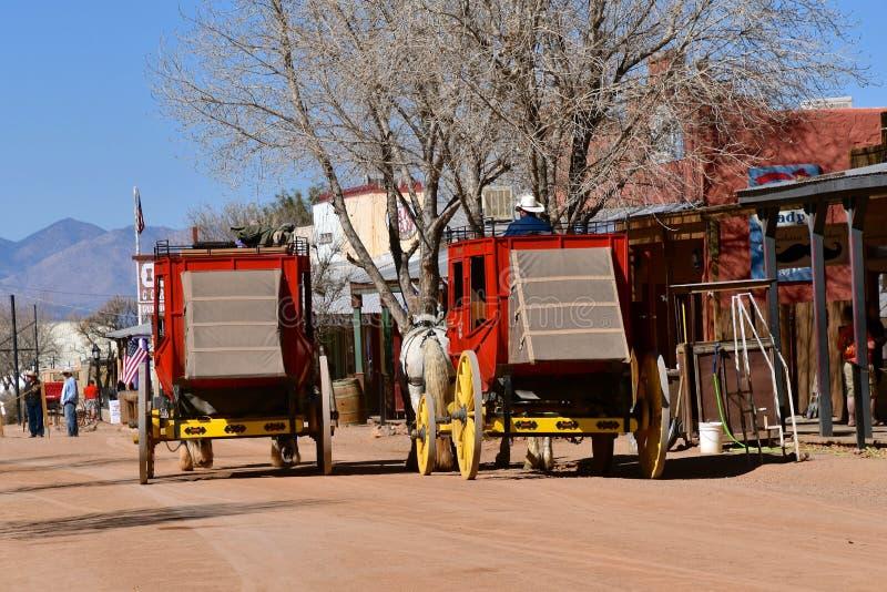 Main Street of Tombstone, Arizona stock photography