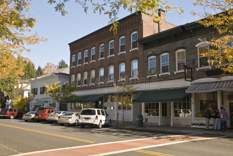 Download Main Street U.S.A. stock image. Image of brick, cafe, town - 7006833