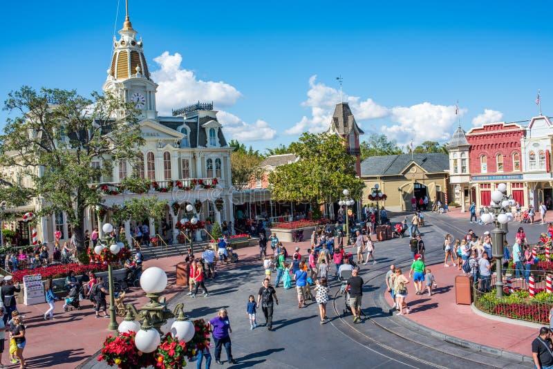 Main Street U.S.A. al regno magico, Walt Disney World immagini stock