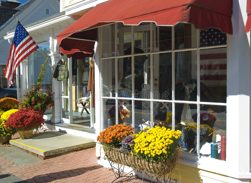 Main Street U.S.A. Store Front stock image