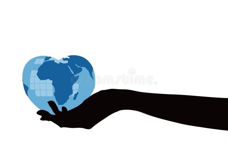 main sur terre illustration libre de droits
