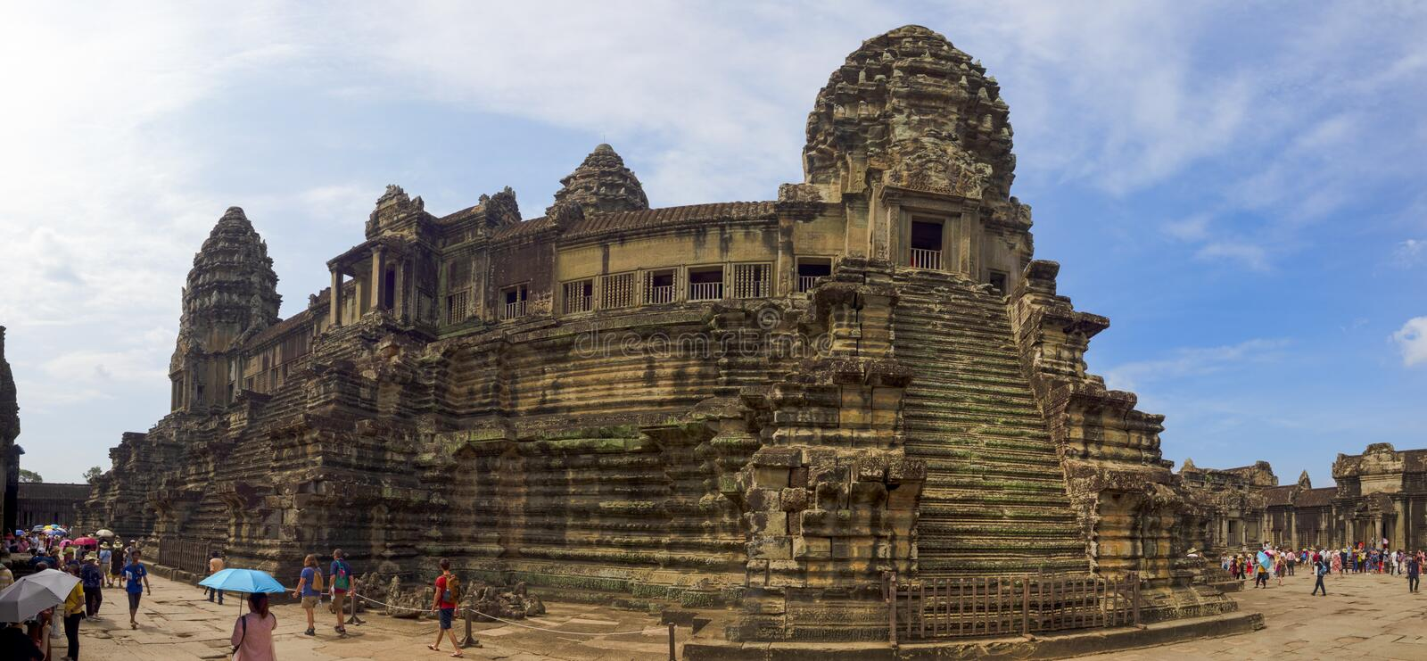 Main temple of angkor wat stock photo