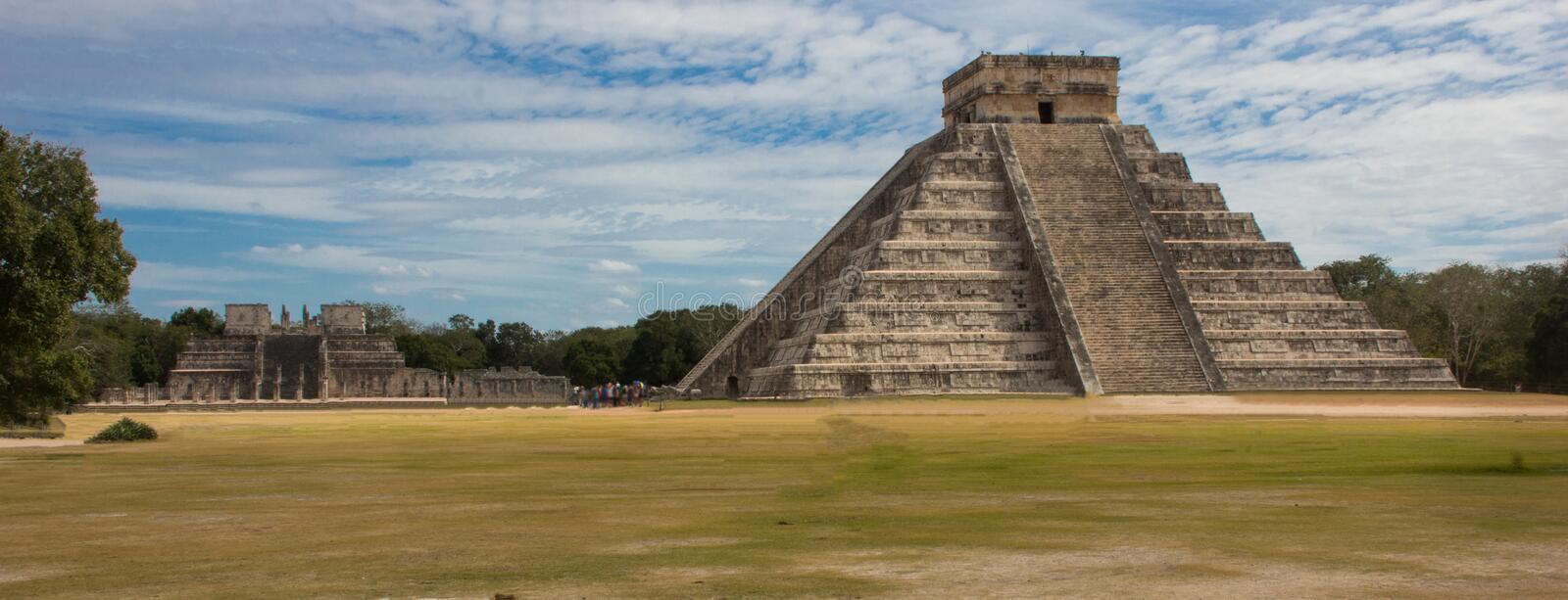 The Main Temple at the ancient ruins of Chichen Itza royalty free stock photos