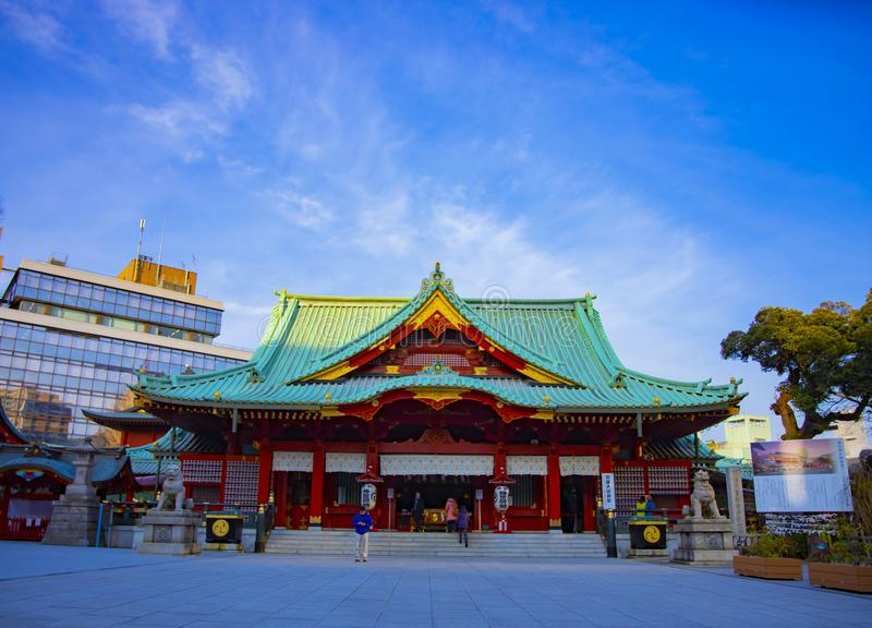 Main temple at Kanda shrine in Tokyo royalty free stock image