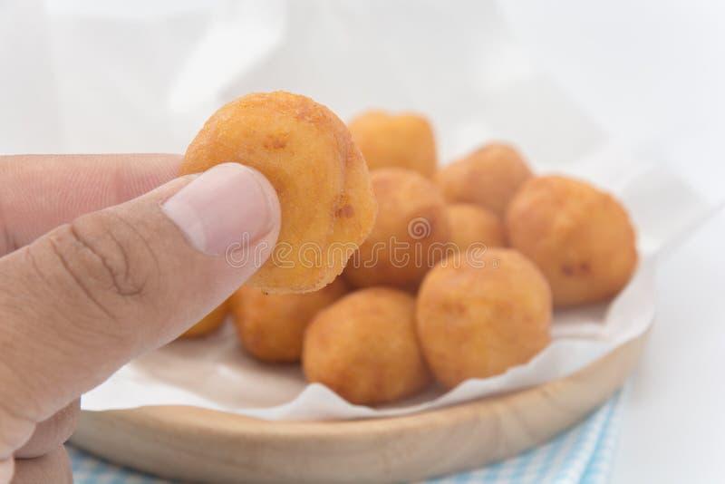Main tenant Fried Sweet Potato Balls images stock