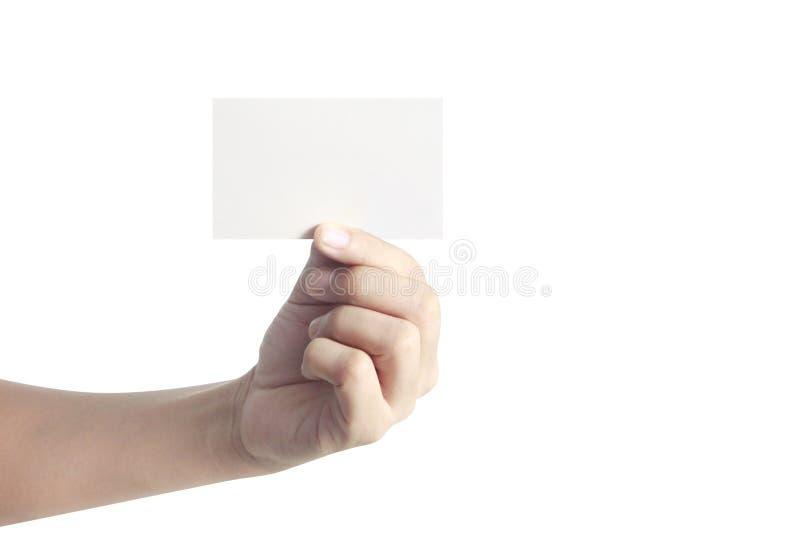 Main tenant la carte virtuelle avec le votre images libres de droits