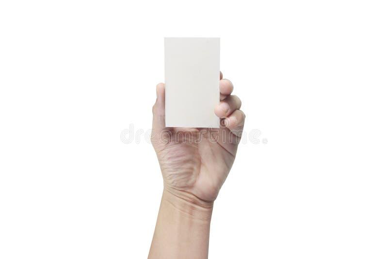 Main tenant la carte virtuelle avec le votre image libre de droits