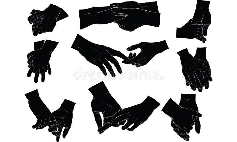 Main tenant la main ensemble illustration libre de droits