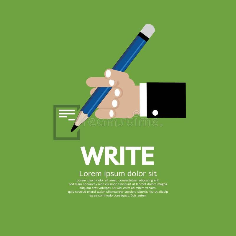 Main tenant un crayon. illustration libre de droits