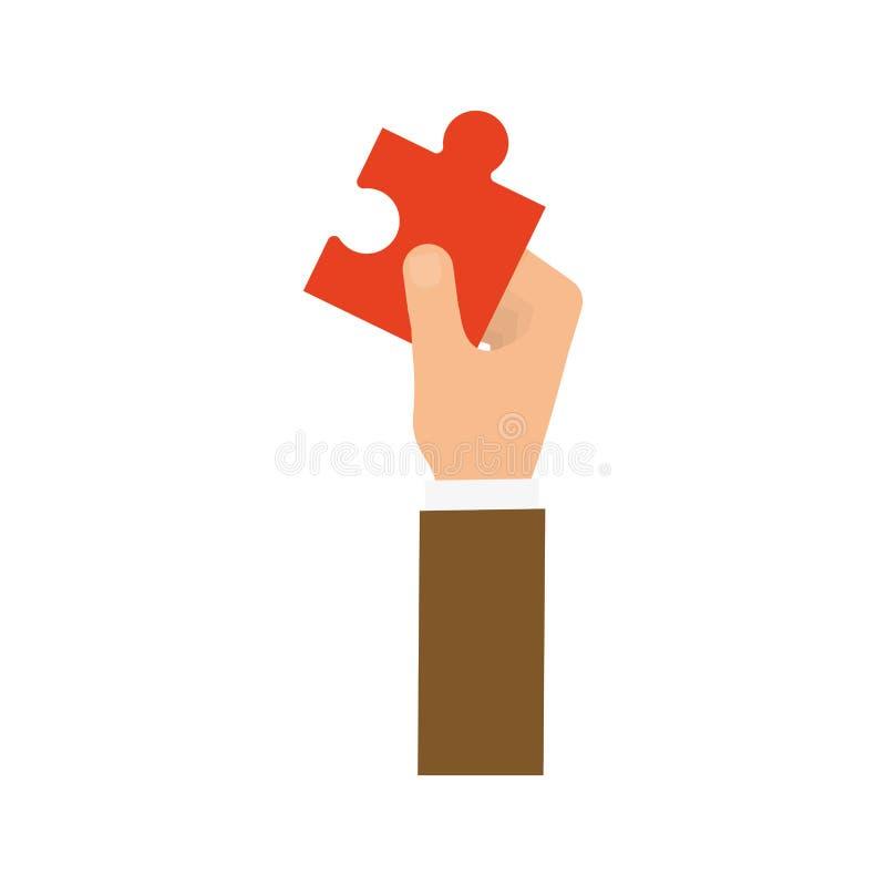 Main tenant un puzzle illustration de vecteur