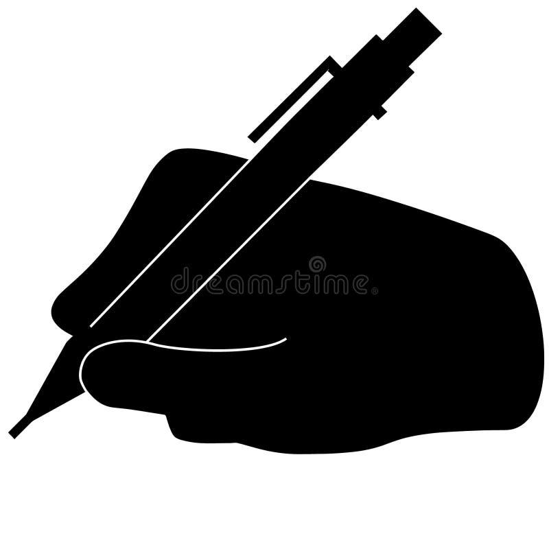 Main tenant une illustration de stylo par des crafteroks illustration libre de droits