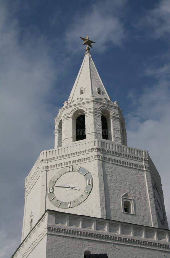 The main tower of the Kazan Kremlin royalty free stock photo