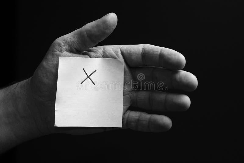 Main X photos libres de droits