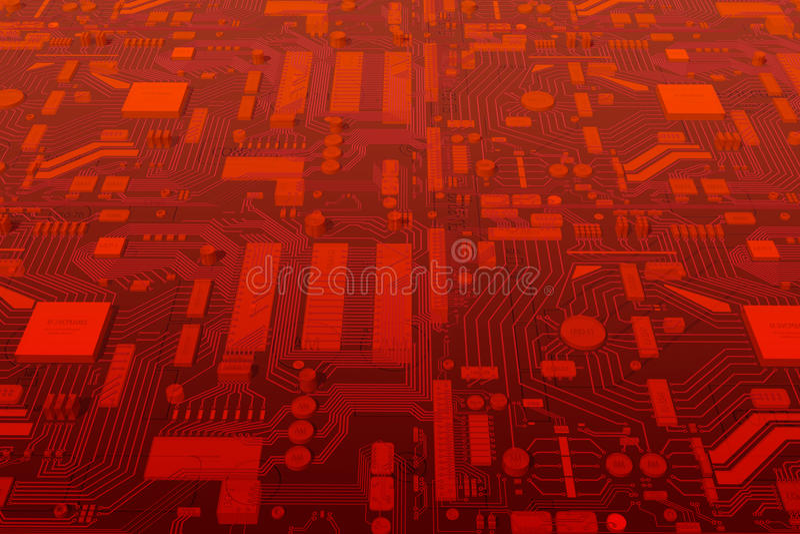 Mainboard del circuito di calcolatore immagini stock