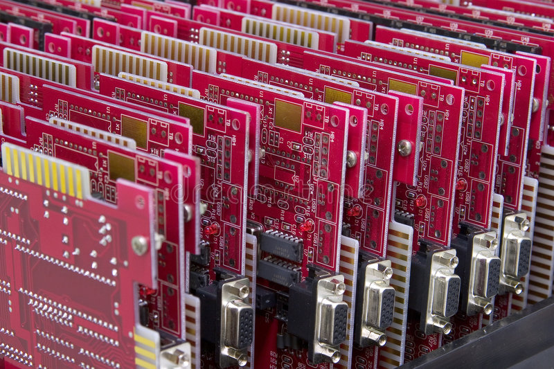 Mainboards photo stock