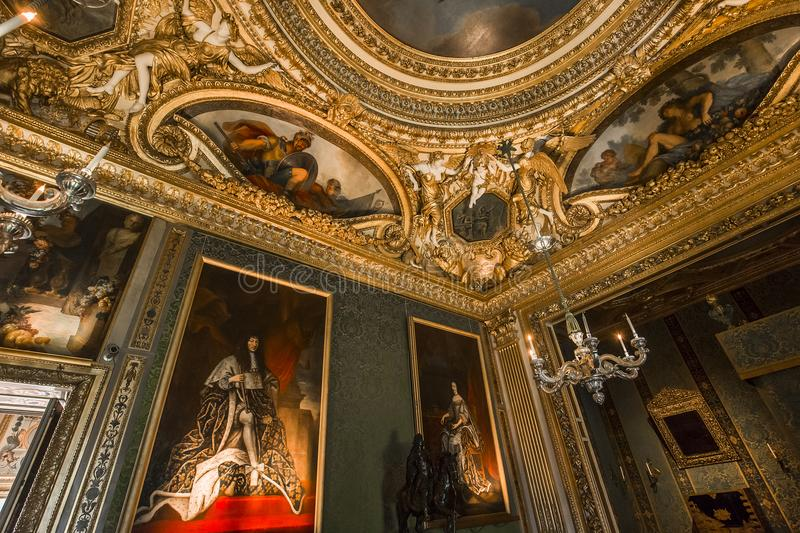 Vaux le vicomte castle, Maincy, France royalty free stock photography