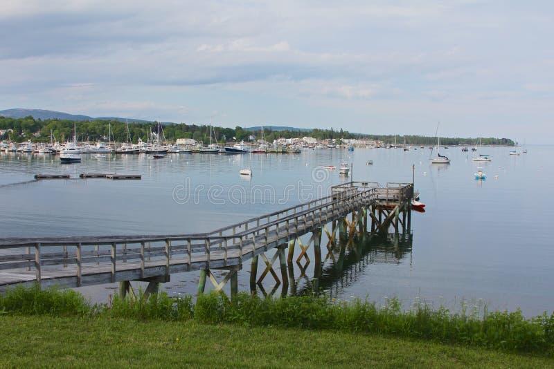 Maine Coast Bar Harbor perto do parque nacional do Acadia imagens de stock