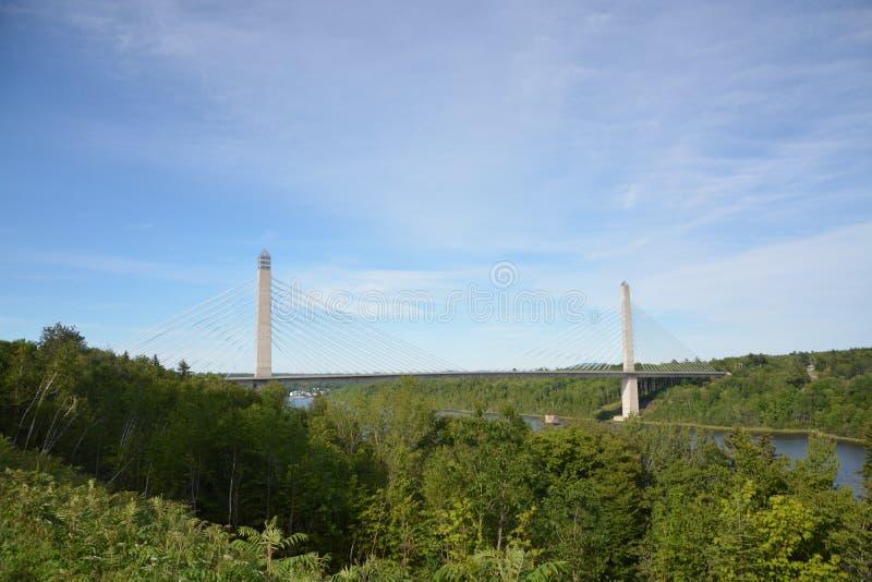 Maine-Flussbrücke stockfotos