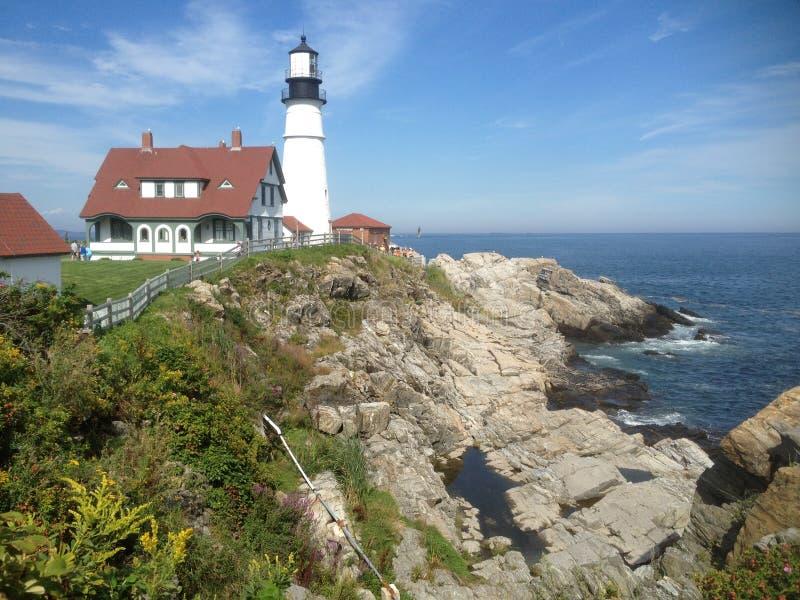 Maine Lighthouse U.S.A. fotografia stock