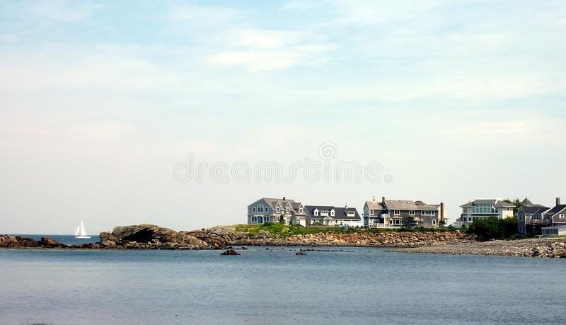 Maine litoral foto de stock royalty free