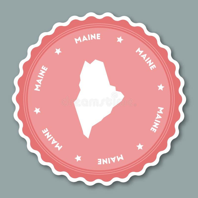 Maine majcheru płaski projekt ilustracja wektor